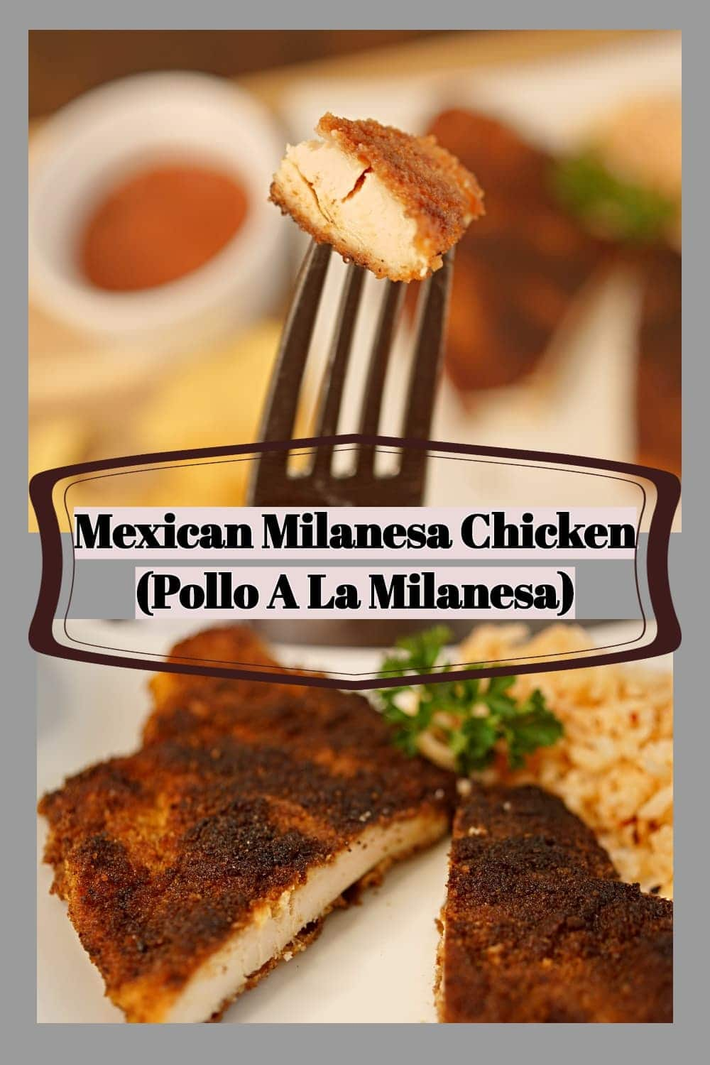 The Best Mexican Milanesa chicken (pollo a la milanesa) is a thin chicken cutlet that is breaded and pan fried. This Mexican Chicken recipe is typically served with rice and salsa.