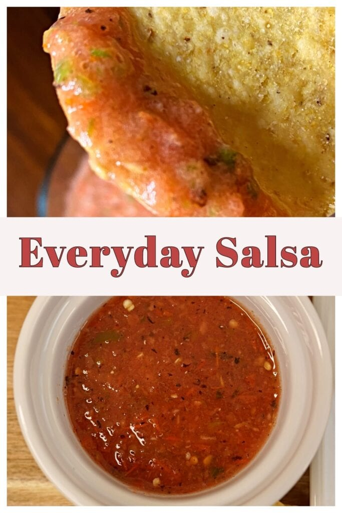 This salsa is perfect for chips and compliments most meals. Check out the post to see how versatile and family friendly it is!- APinchOfAdventure