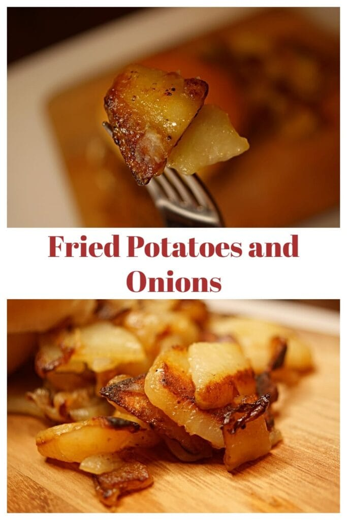 These pan fried potatoes are a perfect side dish. The thinly sliced potatoes cook to be perfectly crisp with amazing depth of flavor that your family will love. APinchOfAdventure