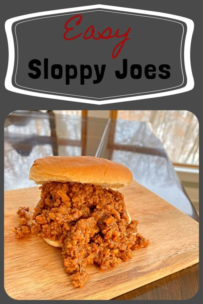 This is an easy, quick and tasty recipe for homemade Sloppy Joes.  Perfect for a quick, family friendly meal. -APinchOfAdventure
