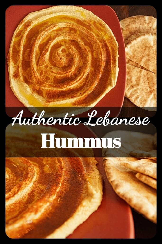 Lebanese hummus is a delicious, smooth Mediterranean bean dip served with warm pita bread. It's made with garbanzo beans, tahini (sesame paste) lemons and spices and is a delicious asset to any party. -APinchOfAdventure