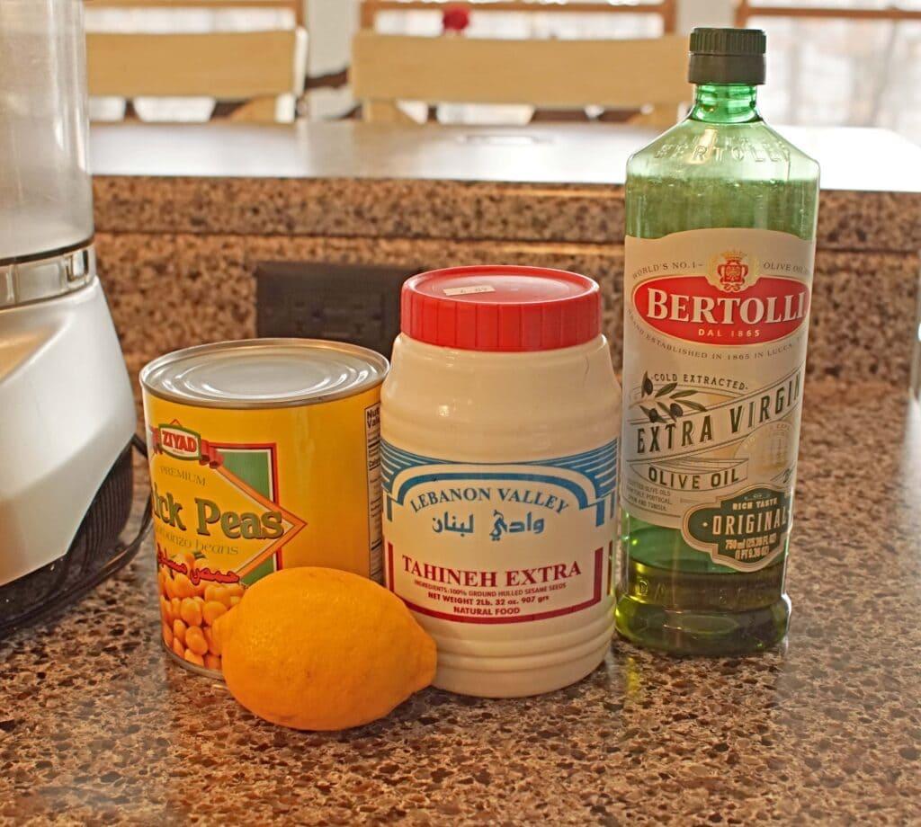 Ingredients for Arabic Hummus