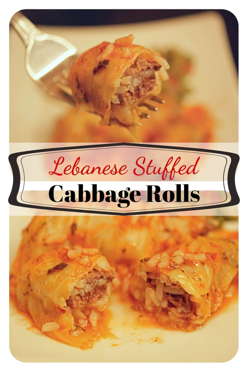 Tasty Mediterranean style cabbage rolls are stuffed with a delicious ground beef and rice mixture and cooked in tomato sauce with garlic, lemon and mint. -APinchOfAdventure