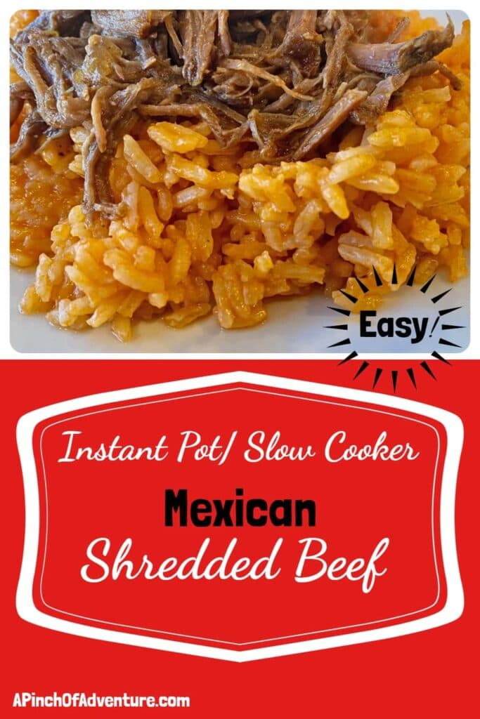 Instant Pot Or Slow Cooker Mexican Shredded Beef Recipe -APinchOfAdventure