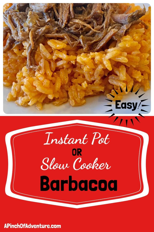 Instant Pot or Slow Cooker Barbacoa Recipe -APinchOfAdventure