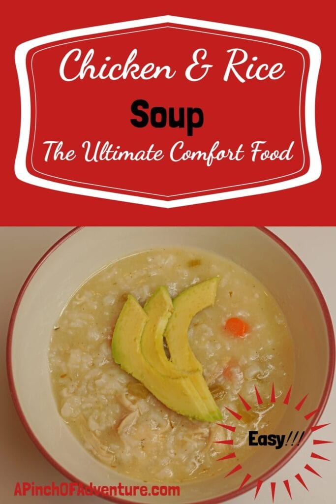 This Chicken and Rice Soup recipes is the ultimate comfort food. It is quick and easy to make and it can be even faster in an Instant Pot -APinchOfAdventure