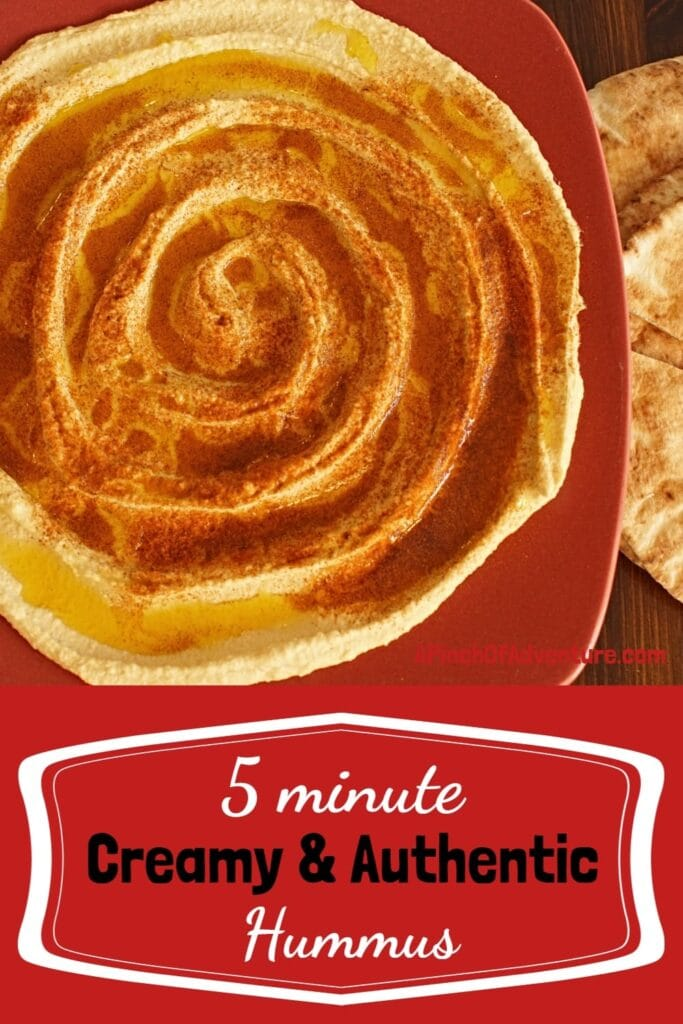 This authentic Lebanese hummus is the best, easy and smooth hummus recipe. It can be made in 5 minutes and it's the perfect party appetizer or healthy snack. This is Mediterranean food at its finest -APinchOfAdventure