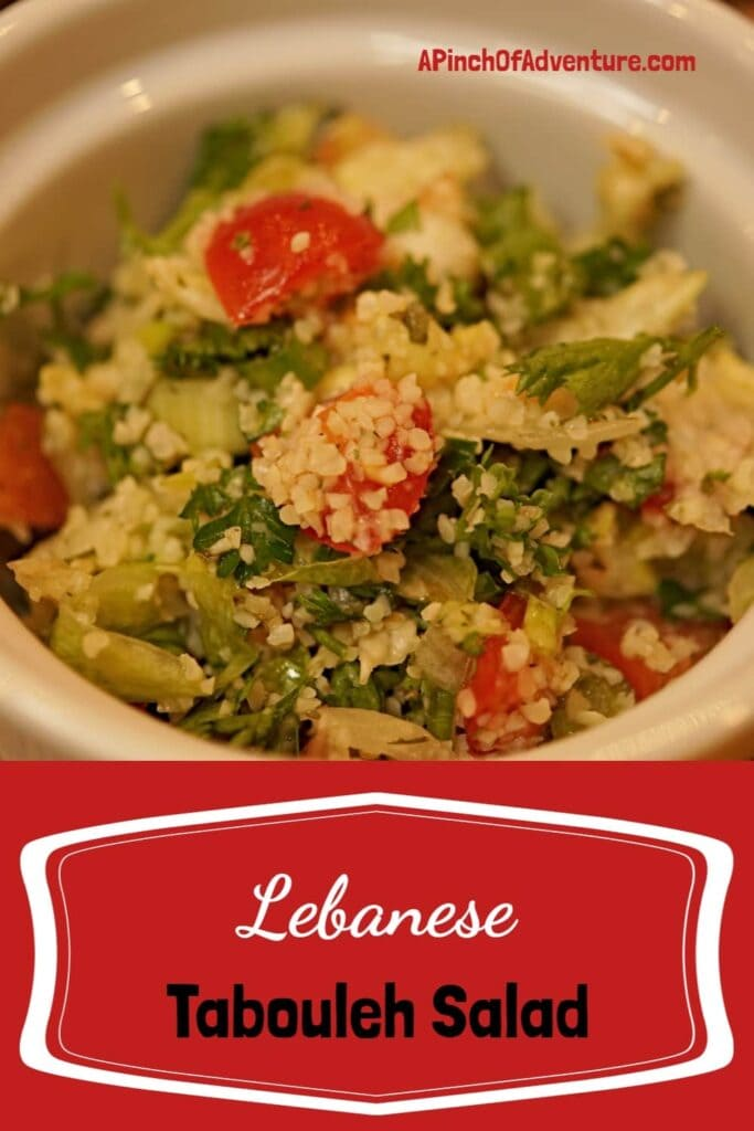 This traditional tabouleh (also spelled tabouli, tabbouleh) salad is made with bulgar (cracked wheat) parsley, fresh tomatoes and scallions and tossed in a Mediterranean lemon and mint dressing. This is THE BEST Lebanese tabouleh salad recipe out there. -APinchOfAdventure