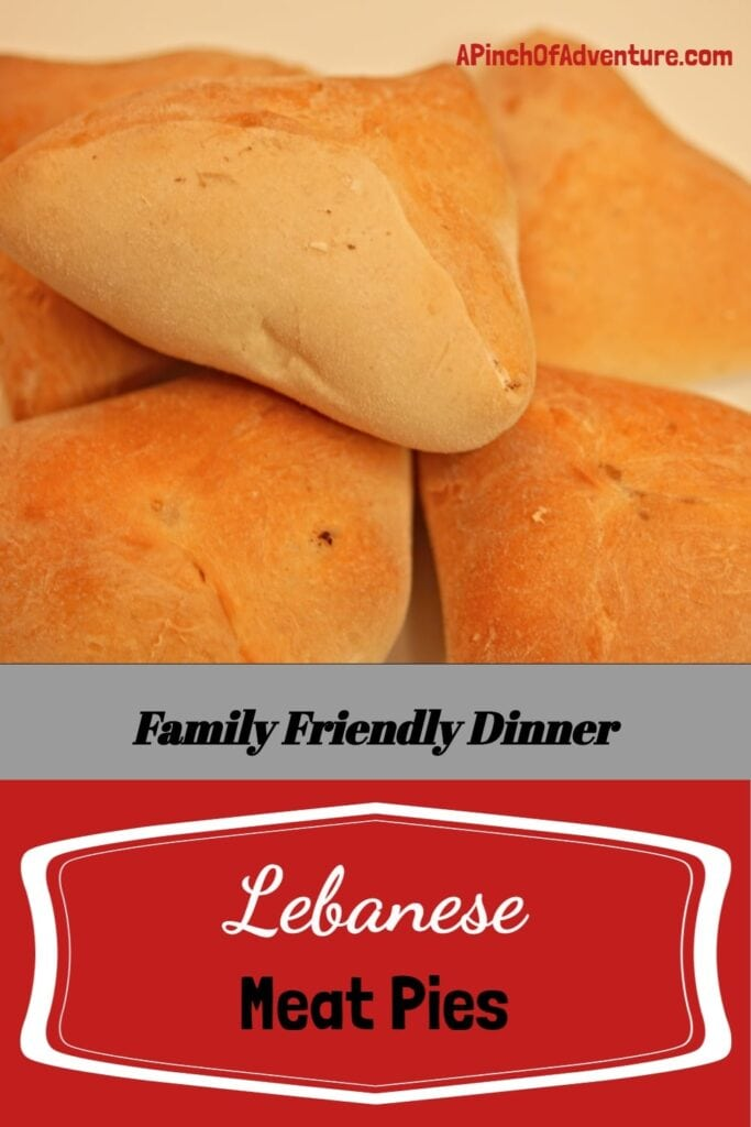 Lebanese meat pies are a traditional savory pastry filled with ground beef (or lamb), onions, celery, Mediterranean spices and lemon and baked until golden brown. It is perfect doughy bread with amazing ground beef filling shaped like a triangle and served as a main dish or as an appetizer. -APinchOfAdventure