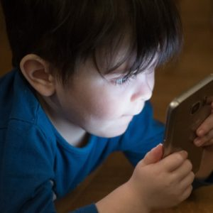child on a phone