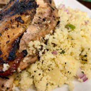Mediterranean Grilled Chicken with couscous salad