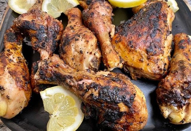 Grilled Chicken with Mediterranean spice rub