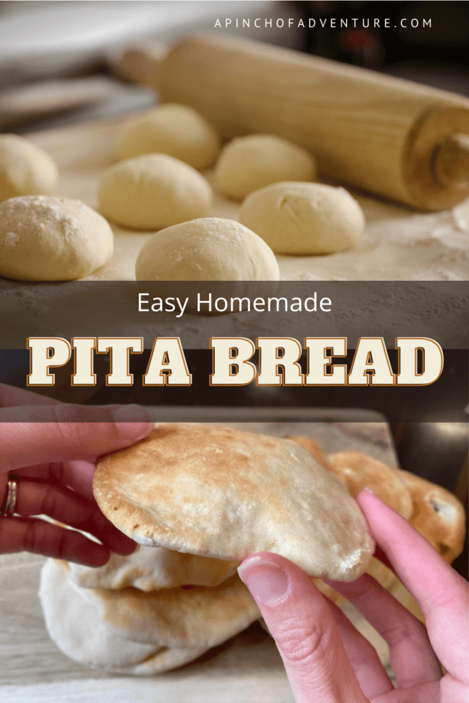 It is easy to make homemade pita bread from scratch! It only has a few basic ingredients, allow a little time for it to rise and you can have perfectly soft, Middle Eastern bread right out of your oven! This recipe is an authentic Lebanese bread that is thin and fluffy. You will find easy step-by-step instructions and a video of how to make pita bread. this authentic pita bread recipe is perfect for hummus, shawarma, or with any dip or as your favorite sandwich, Never buy store bought pita bread again.