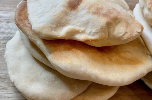 Homemade pita bread from scratch