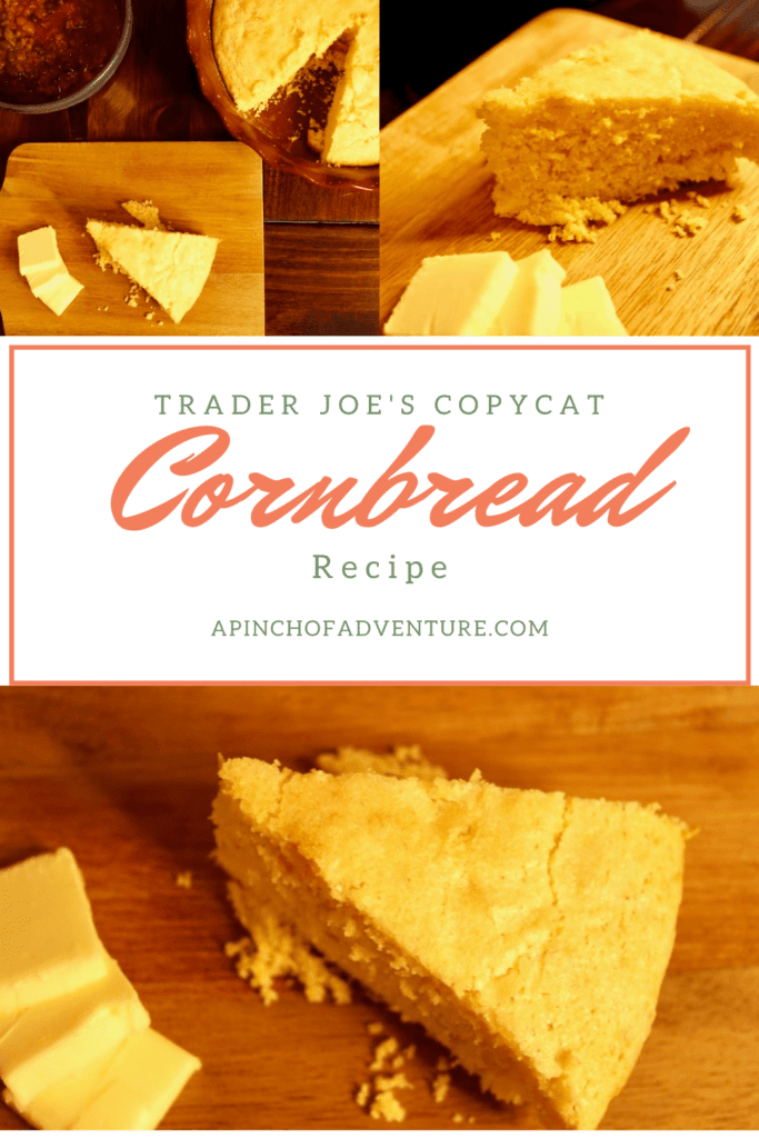 Trader Joe's Cornbread Mix Copycat Recipe is THE BEST homemade buttery cornbread recipe out there! This easy cornbread recipe is made from scratch with real corn. It is a sweet cornbread made without buttermilk. It's quick and easy and ready in under 30 minutes and can be made as muffins!