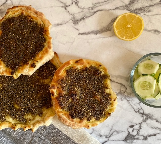 Manakish flatbread recipe with za'atar
