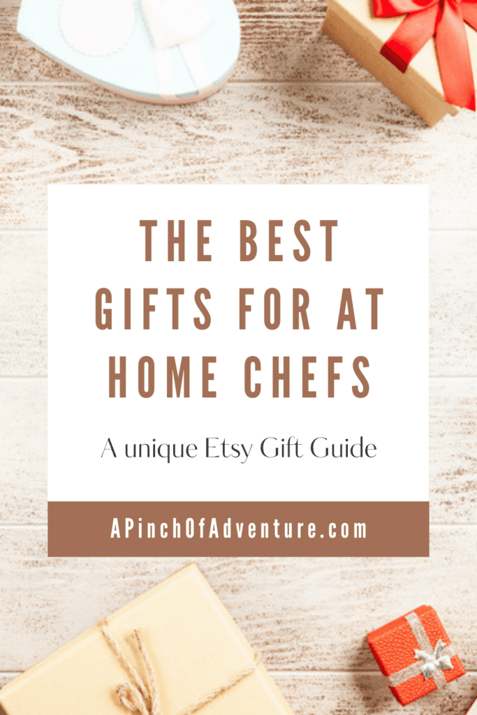 Need Christmas gift ideas for someone who loves cooking? Here is an amazing gift guide of unique Etsy gifts for any budget for the chef in your life. These are great gift suggestions for newlyweds or anyone who loves food and cooking. From funny gifts to meaningful personalized gifts, this is a great gift guide for cooks who already have everything.