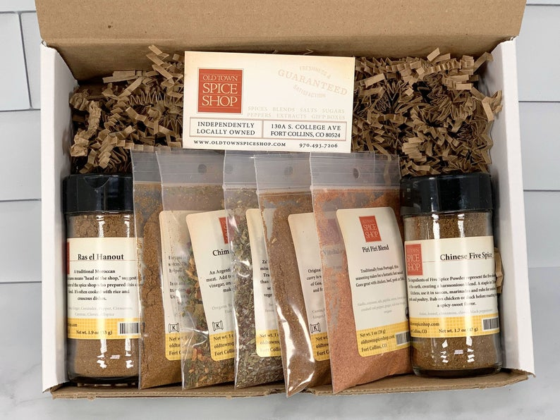 Gourmet spice set. A great gift idea for an adventurous eater