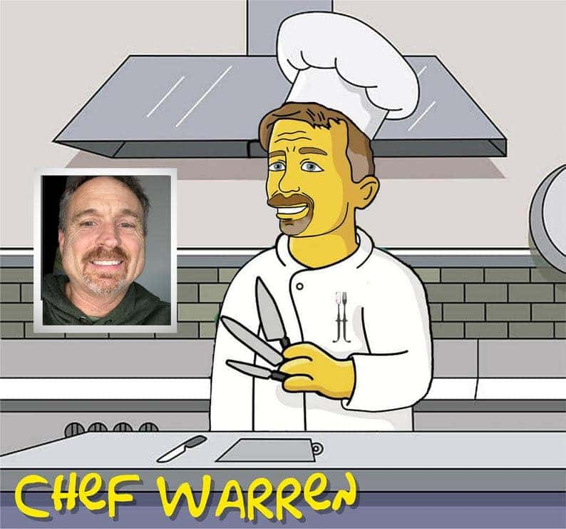 Personalized chef portrait, This is a great gift idea for a head chef or executive chef