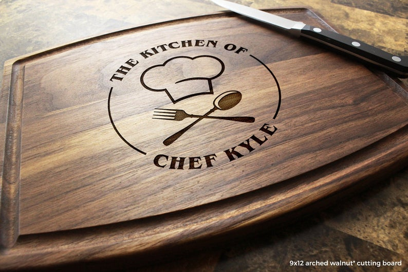 Personalized Cutting and Serving Board.  A Great Gift Idea for a chef