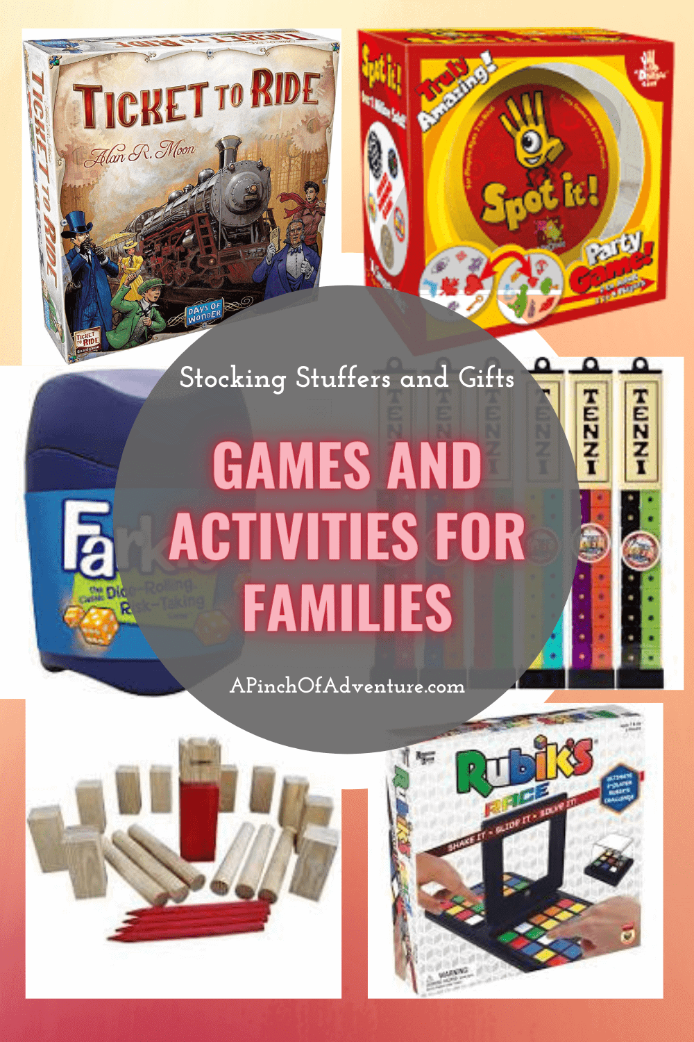 Looking for family game night ideas? This is the best list of 10 games and activities of fun things to do with kids at home. Some of these are also great stocking stuffers under $10 as well. This is the perfect list of boredom busters for all of the family from age 3 and up.