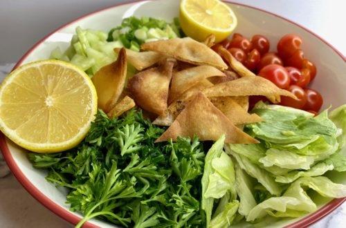 homemade fattoush salad