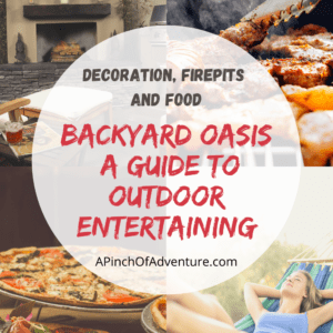 If you are looking for backyard ideas or looking to upgrade your outdoor entertaining area, check this article out! It is a complete guide to outdoor entertaining ideas. A backyard makeover on a budget is possible. This post covers backyard grilling areas, backyard fire pit ideas, gas fire pits, outdoor patio furniture, wood burning fire pits, chimineas, food for outdoor entertaining, as well as outdoor pizza oven ideas and pizza oven kits. Outdoor entertaining spaces can be made so relaxing with the right backyard must have items.