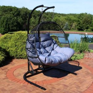 Loveseat Egg chair for 2 for the relaxing backyard oasis