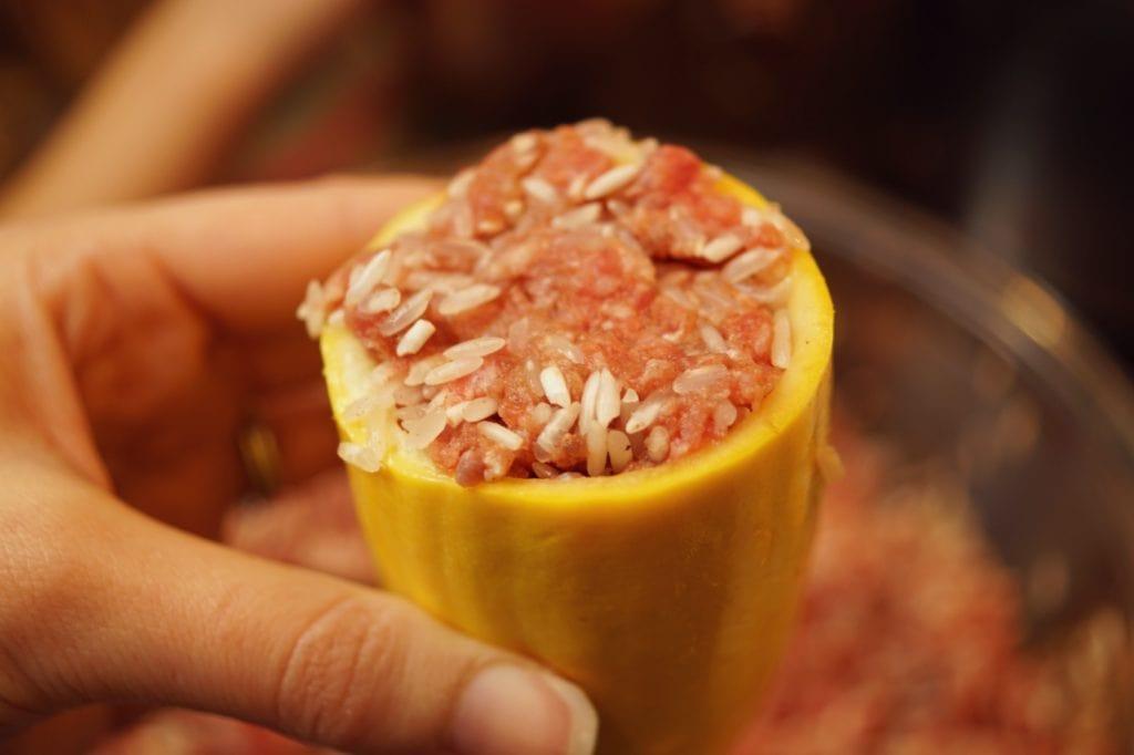 How to stuff squash for stuffed yellow squash recipes, kousa recipe Lebanese