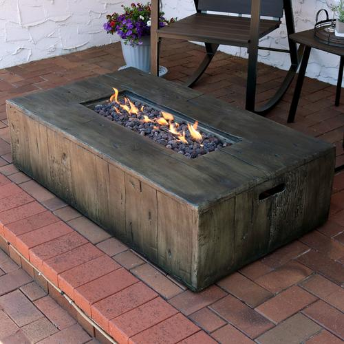 Outdoor gas fire pit for the backyard oasis