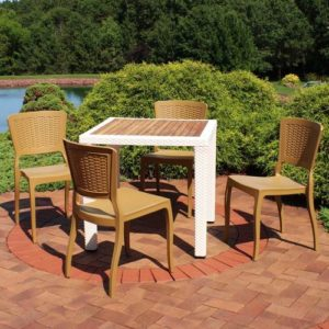 small outdoor dining set for entertaining outdoors