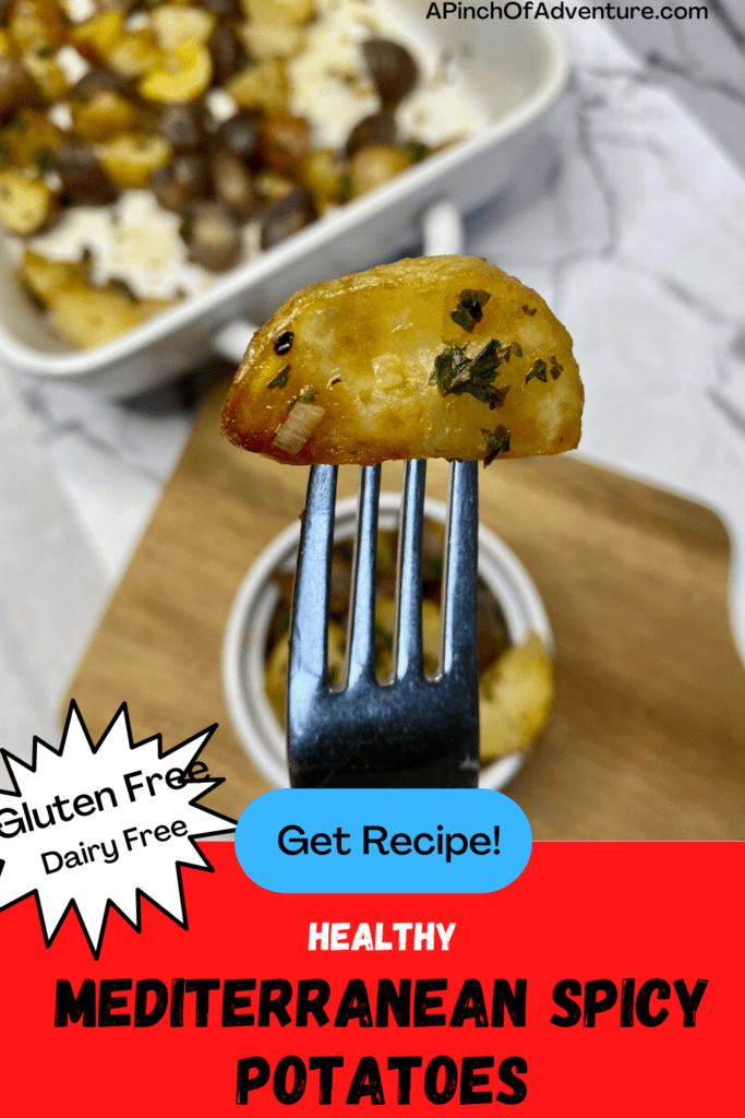 These spicy Lebanese style potatoes (batata harra recipe) are an amazing roasted potato side dish to compliment any meal. These spicy roasted potatoes in oven are perfectly seasoned and crisp. This petite potatoes recipe can be done in the air fryer or can be a recipe for oven roasted new potatoes. These Lebanese garlic potatoes are flavorful and are the perfect vegan potatoes that are healthy, gluten free and dairy free. It's the best recipe with purple potatoes ever!
