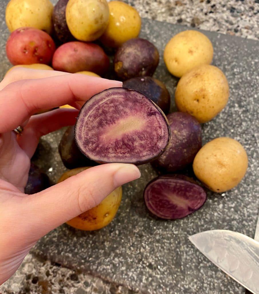 petite potatoes medley to make spicy Lebanese potatoes
