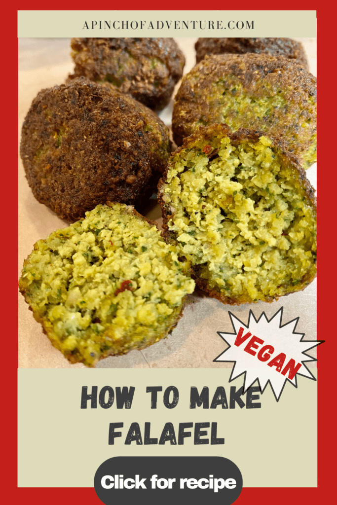 This Lebanese falafel recipe is the best vegan falafel recipe out there! Authentic falafel from scratch is made with chickpeas and fresh herbs. These fluffy falafels are crispy falafels on the outside and fluffy and delicious on the inside. Serve it with creamy tahini sauce as a vegan falafel wrap sandwich or make a falafel bowl for a healthy Mediterranean meal idea. Make your falafel recipe authentic with this Lebanese recipe on how to make falafel balls
