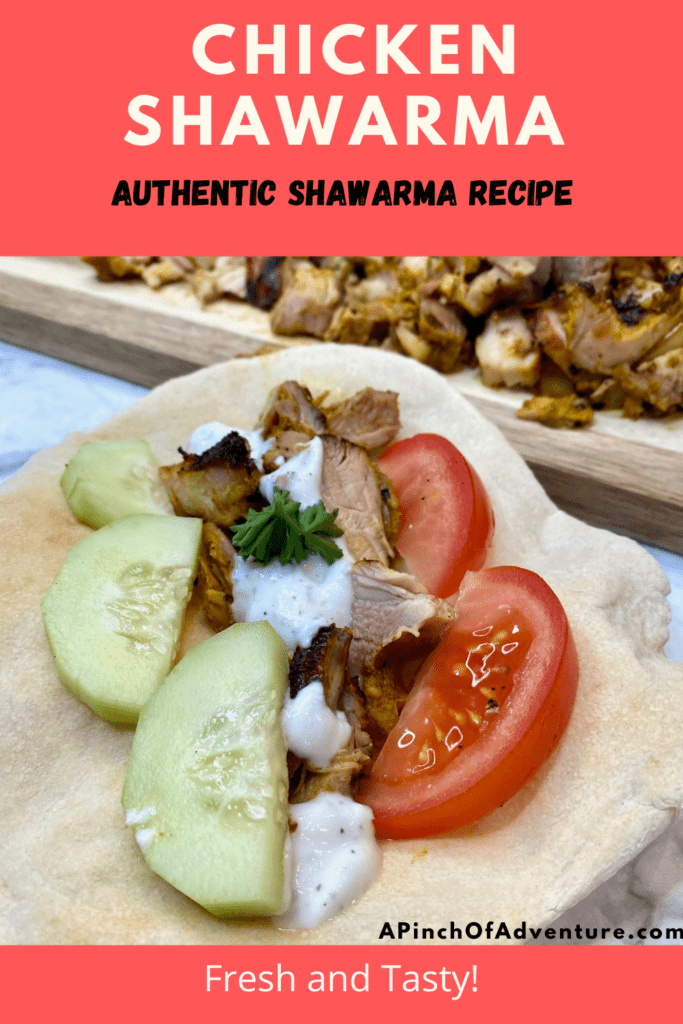 This Chicken Shawarma recipe is the BEST! The chicken shawarma marinade is easy and quick and makes for the best chicken shawarma wraps. Chicken Shawarma with yogurt sauce is so tasty and healthy. The shawarma spice blend is full of warm spices for this Middle Eastern chicken dish. Shawarma recipe chicken at home has never been easier or more delicious