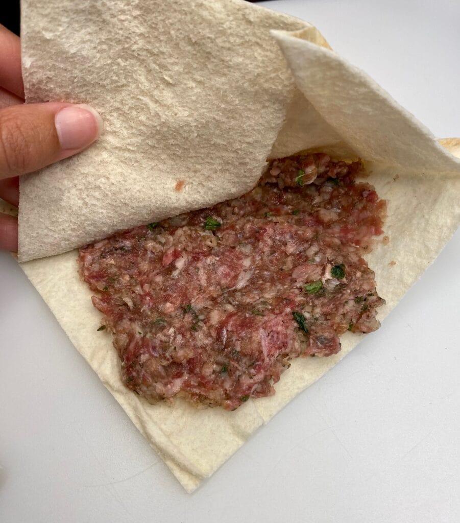 pita stuffing for the arayes Lebanese