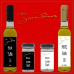 All natural black and white truffle oil gift pack with salt