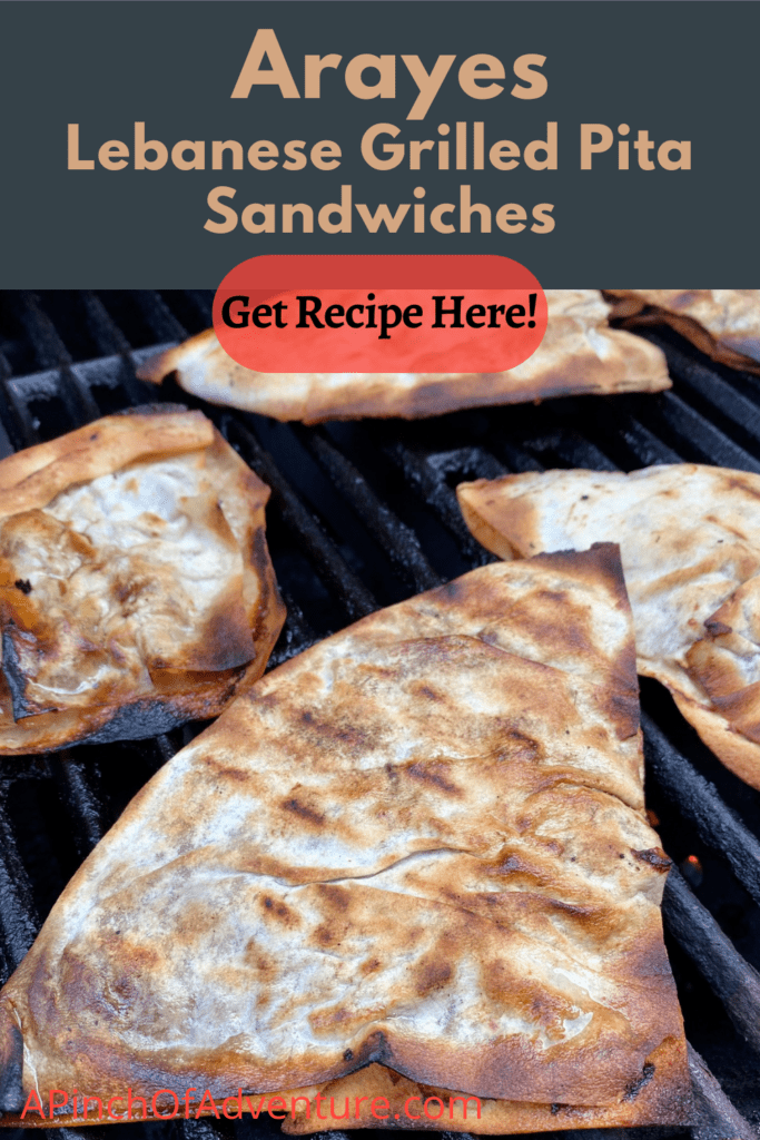 This Lebanese arayes recipe is so easy and quick. Arayes kafta are meat stuffed pita sandwiches that are grilled. They are a great Lebanese appetizer or a great easy main dish recipe as well. Make this arayes recipe baked or on the grill, full directions in link. This arayes recipe meat calls for ground beef or lamb, it's the perfect easy grilled pita sandwich recipe!